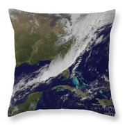 A Strong Cold Front Moving Throw Pillow