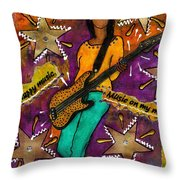 A Student Of The Jam Throw Pillow