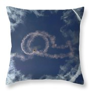 A Stunt Plane Flies Throw Pillow by Stocktrek Images