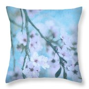 A Subtle Spring Throw Pillow