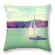 A Summer Sailing Adventure Throw Pillow