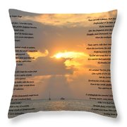 A Sunset A Poem - Victor Hugo Throw Pillow