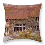 A Surrey Cottage Throw Pillow
