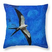 A Swallow And The Moon Throw Pillow