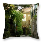 A Sweet Little Street Throw Pillow