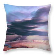 A Swift Moving Thunderstorm Moves Throw Pillow