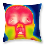 A Thermogram Of A 5 Month Old Baby Throw Pillow