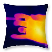 A Thermogram Of A Lit Cigarette Throw Pillow by Ted Kinsman