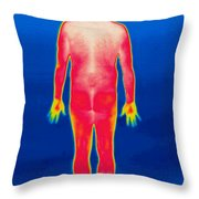 A Thermogram Of A Nude Man Back Throw Pillow