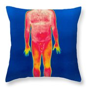 A Thermogram Of A Nude Man Throw Pillow