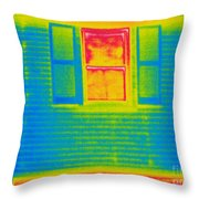 A Thermogram Of A Window Throw Pillow