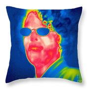 A Thermogram Of A Woman With Glasses Throw Pillow