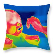 A Thermogram Of Feeding A Baby Throw Pillow by Ted Kinsman