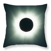 A Total Solar Eclipse Over France Throw Pillow
