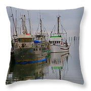 A Touch Of Blue And Green Throw Pillow