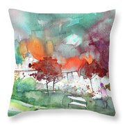 A Town On Planet Goodaboom Throw Pillow
