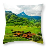 A Town On The Way Throw Pillow
