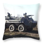 A Tpz Fuchs Armored Personnel Carrier Throw Pillow