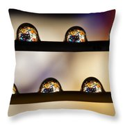 A Treasure Of Dice And Gems Throw Pillow by Marc Garrido
