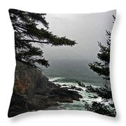 A Tricky Acadian Cove Throw Pillow