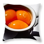 A Triple Eggspresso Throw Pillow