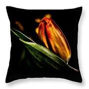 A Tulip With Sheen Throw Pillow