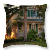 A Typical Old Cottage In Town Throw Pillow