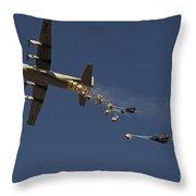 A U. S. Air Force C-130 Hercules Throw Pillow