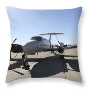 A  Uc-12f King Air Aircraft Throw Pillow