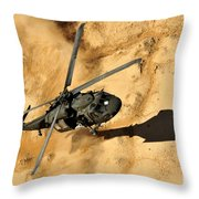 A Uh-60 Black Hawk Helicopter Comes Throw Pillow