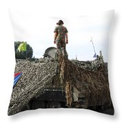 A Unit Of The 2nd Regiment Field Throw Pillow