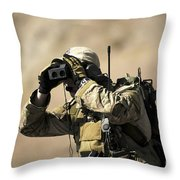 A U.s. Air Force Combat Controller Uses Throw Pillow by Stocktrek Images