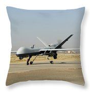 A U.s. Air Force Mq-9 Reaper Unmanned Throw Pillow