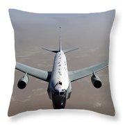 A U.s. Air Force Rc-135vw Rivet Joint Throw Pillow