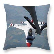 A U.s. Air Force Thunderbird Pilot Throw Pillow