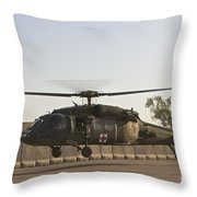 A U.s. Army Medevac Uh-60 Black Hawk Throw Pillow
