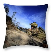 A U.s. Army Soldier Provides Supporting Throw Pillow