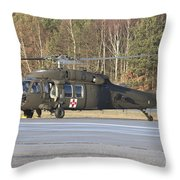 A U.s. Army Uh-60l Blackhawk Throw Pillow