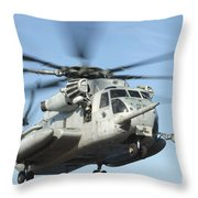 A U.s. Marine Corps Ch-53e Super Throw Pillow