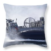 A U.s. Marine Corps Landing Craft Air Throw Pillow