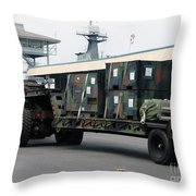 A U.s. Marine Corps Mk48 Logistics Throw Pillow