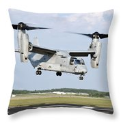 A U.s. Marine Corps Mv-22 Osprey Lifts Throw Pillow
