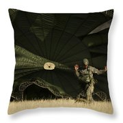 A U.s. Soldier Collapses His Parachute Throw Pillow