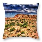 A Utah Landscape Throw Pillow