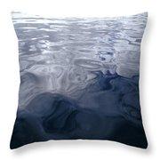 A Very Calm Ocean Reflects Grey-blue Throw Pillow