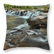A View Across The New River Throw Pillow