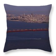 A View From Marin Headlands Throw Pillow