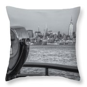 A View From New Jersey II Throw Pillow