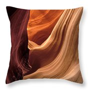 A View In A Slot Canyon Throw Pillow