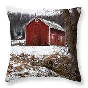 A View In Winter Throw Pillow
